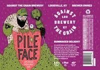 Against the Grain Pile of Face beer Label Full Size