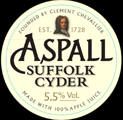 Aspall Draught Suffolk Cyder beer Label Full Size