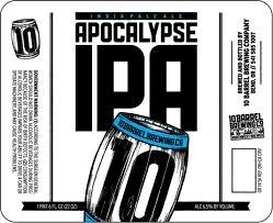10 Barrel Apocalypse IPA beer Label Full Size