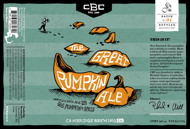 Cambridge Great Pumpkin Ale Beer
