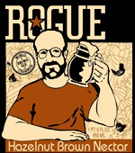 Rogue Hazelnut Brown Nectar beer Label Full Size