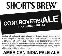 Short's Brew Controveriale beer Label Full Size