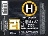 Hinterland 21st Anniversary Ale Beer