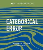 Threes Categorical Error beer