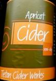 Tieton Apricot Cider beer