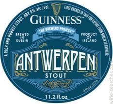 Guinness Antwerpen Stout beer Label Full Size