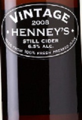Henney's Vintage Cider beer Label Full Size
