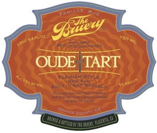 Bruery Oude Tart beer Label Full Size