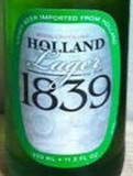 Holland Lager 1839 Beer