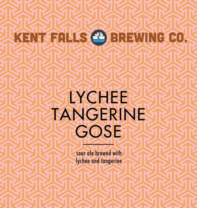 Kent Falls Lychee Tangerine Gose beer Label Full Size