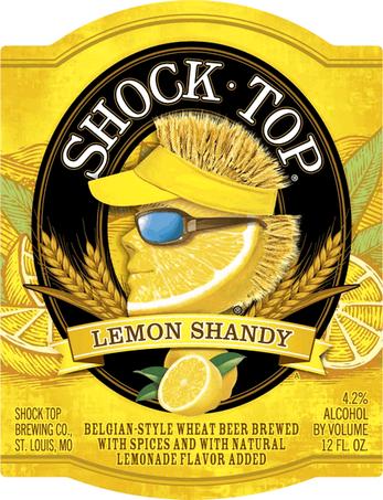 Shock Top Lemon Shandy beer Label Full Size