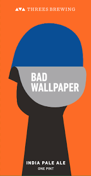 Threes Bad Wallpaper beer Label Full Size