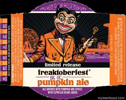 Coney Island Freaktoberfest Pumpkin Ale beer Label Full Size