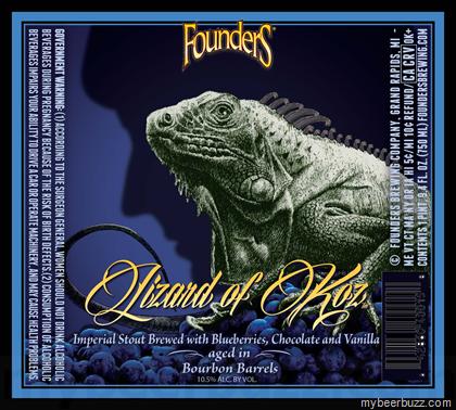 Founders Lizard Of Koz beer Label Full Size