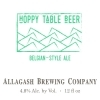 Allagash Hoppy Table Beer Beer