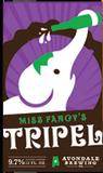 Avondale Miss Fancy's Tripel beer
