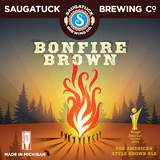 Saugatuck Bonfire Brown Nitro beer