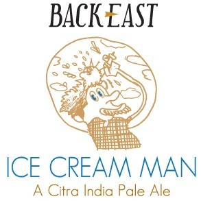 Back East Ice Cream Man beer Label Full Size