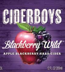 Ciderboys Blackberry Wild beer Label Full Size