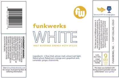 Funkwerks White beer Label Full Size