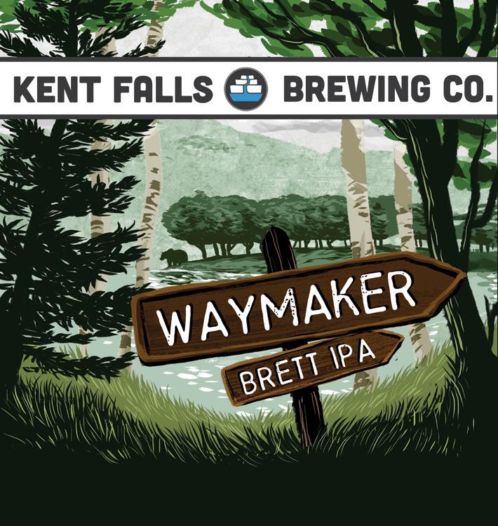 Kent Falls Waymaker beer Label Full Size