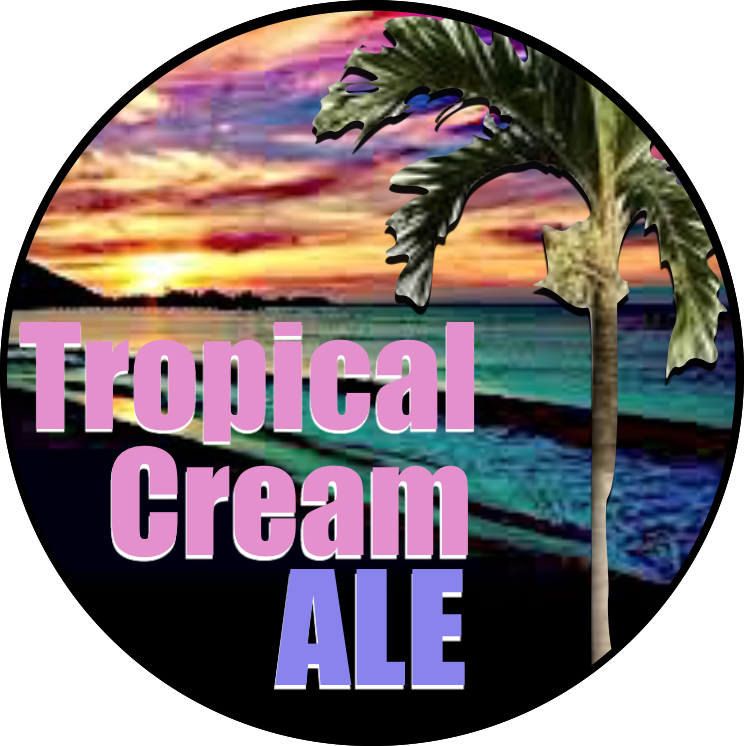 Four Mile Tropical Cream Ale beer Label Full Size