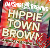 Oakshire Hippie Town Brown beer Label Full Size
