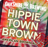 Oakshire Hippie Town Brown beer