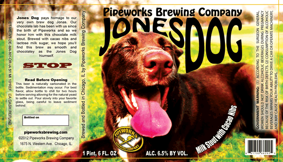 Pipeworks Jones Dog beer Label Full Size
