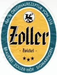 Zoller-Hof Zwickel beer Label Full Size