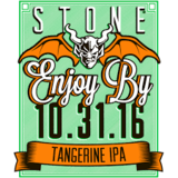 Stone Enjoy By 10.31.16 Tangerine IPA beer