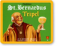 St. Bernardus Tripel beer Label Full Size