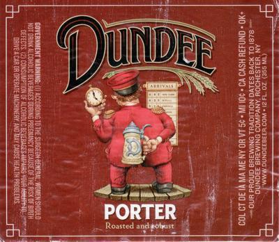 Dundee Porter beer Label Full Size