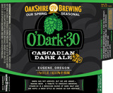 Oakshire O'Dark:30 Cascadian Dark Ale beer
