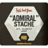 Milwaukee Admiral Stache beer