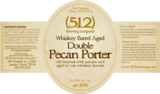 (512) Whiskey Barrel Aged Double Pecan Porter beer