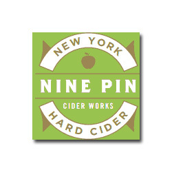Nine Pin Cider Hibiscus Peach beer Label Full Size