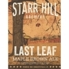 Starr Hill Last Leaf Maple Brown beer