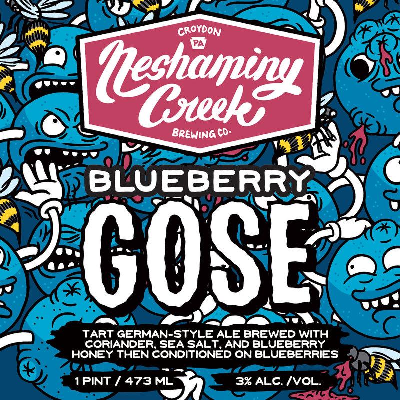 Neshaminy Creek Blueberry Gose beer Label Full Size