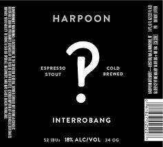 Harpoon Interrobang Espresso Stout beer Label Full Size