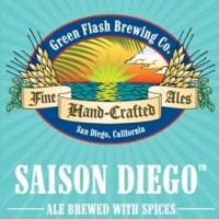 Green Flash Saison Diego beer Label Full Size
