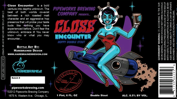 Pipeworks Close Encounter beer Label Full Size