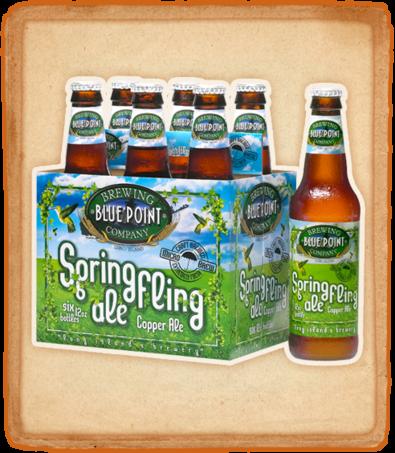 Blue Point Spring Fling beer Label Full Size