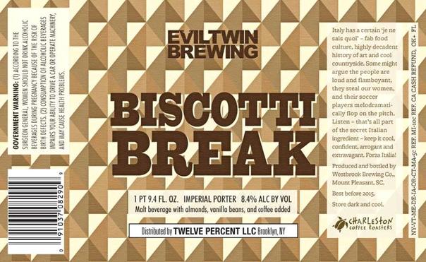 Evil Twin Imperial Biscotti Break beer Label Full Size