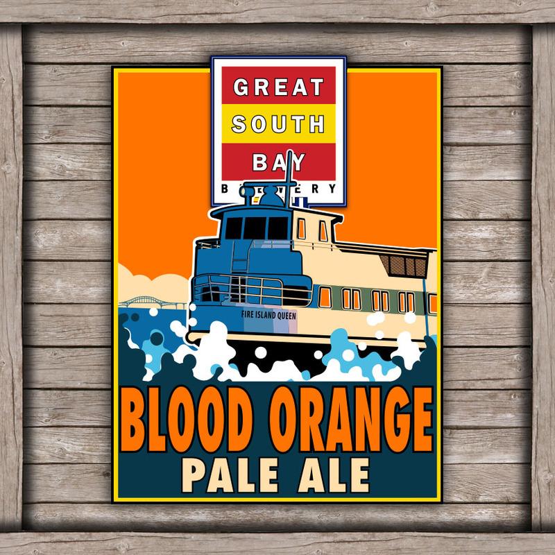 Great South Bay Blood Orange Pale Ale beer Label Full Size