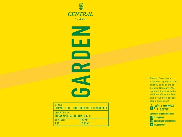 Central State Garden Gose beer Label Full Size