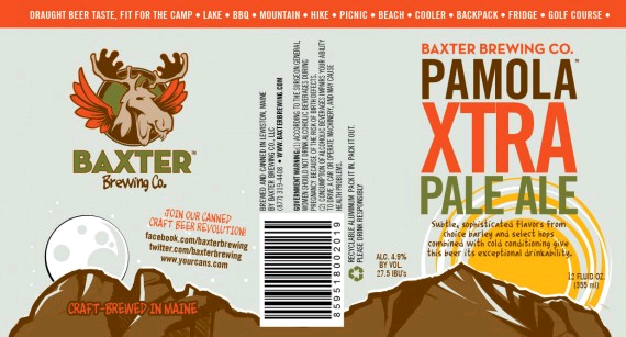 Baxter Pamola Xtra Pale Ale beer Label Full Size