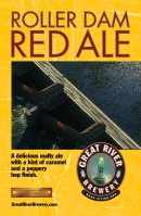 Great River Roller Dam Red Ale beer Label Full Size