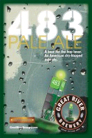 Great River 483 Pale Ale beer Label Full Size