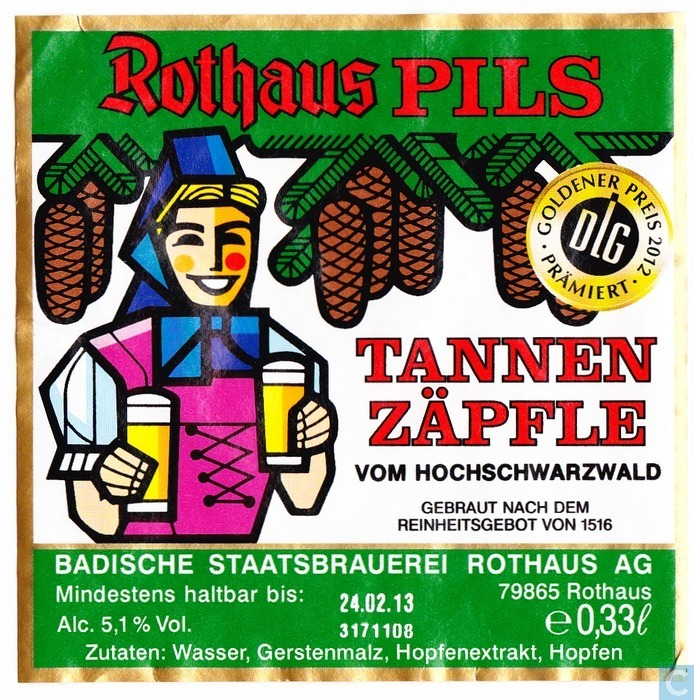 Rothaus Tannen Zäpfle Pilsner Beer